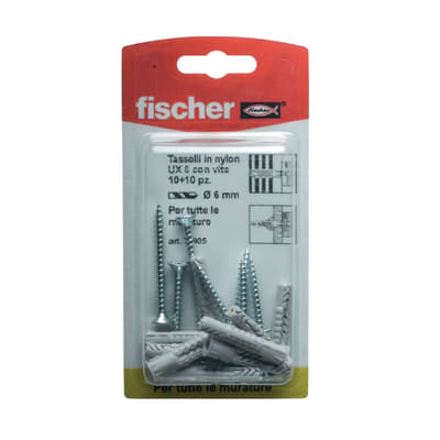 10 tasselli Fischer UX ø 6 x 35  mm con vite