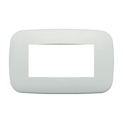 Placca 4 moduli Vimar Arké perla matt