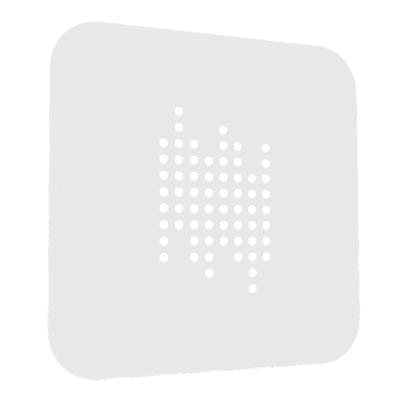 Plafoniera Tab quadro bianco L 40 x H 40 cm
