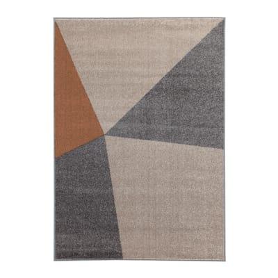Tappeto Casa triangoli multicolore, ocra 200 x 300 cm