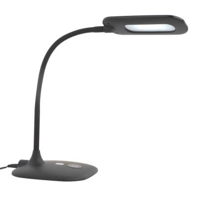 Lampada da scrivania Inspire flessibile Mei nero LED integrato