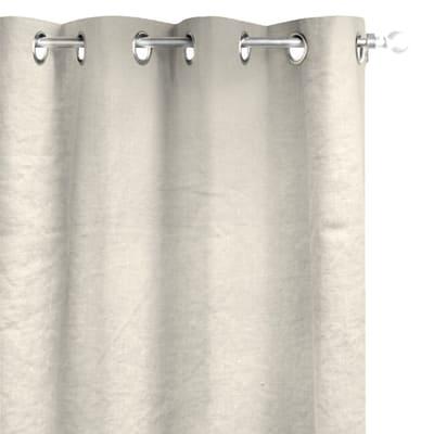 Tenda Lino lavato occhiell crema 140 x 280 cm