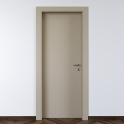 Porta da interno battente Cinder grigio 80 x H 210 cm sx