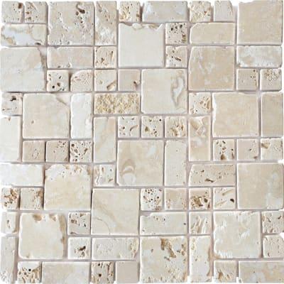 Mosaico Travertino Romano 30,5 x 30,5 cm