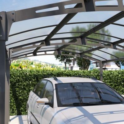 Carport Siena copertura trasparente 5 x 3,62 m