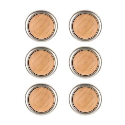 6 pomoli faggio opaco Ø 34 mm