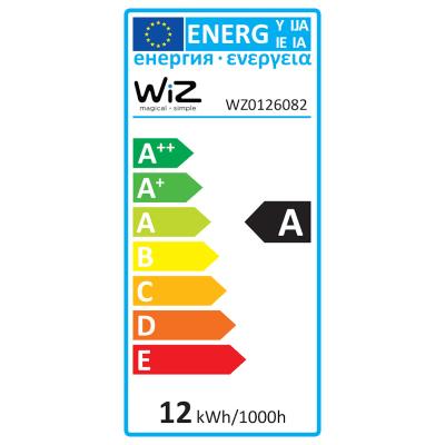 2 lampadine smart LED Wiz E27 =60W goccia multicolore (RGB)
