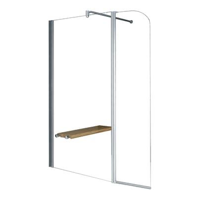 Doccia walk-in Twist 2 98, H 195 cm cristallo 6 mm trasparente/silver