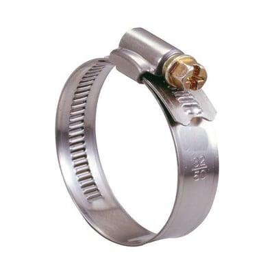 Fascetta a collare in metallo BM con banda piena per tubi d.25/40