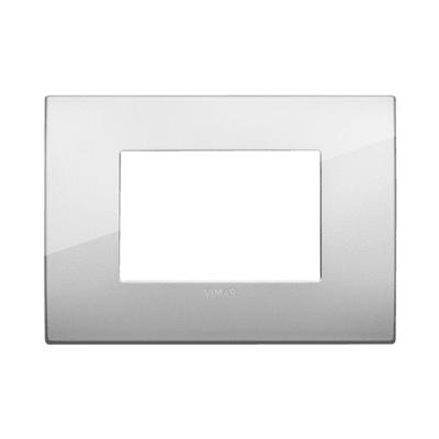 Placca VIMAR Arké 3 moduli argento