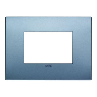 Placca VIMAR Arké 3 moduli blu matt