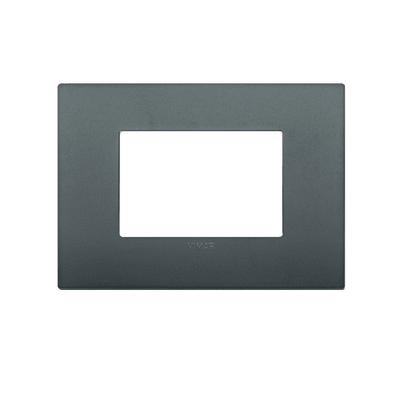 Placca VIMAR Arké 3 moduli grigio