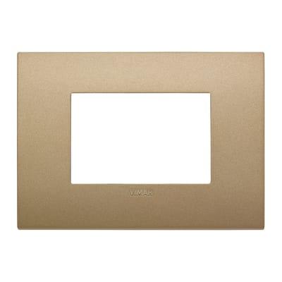 Placca VIMAR Arké 3 moduli oro matt