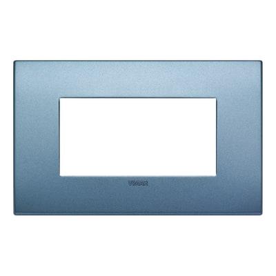 Placca VIMAR Arké 4 moduli blu matt
