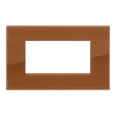 Placca VIMAR Arké 4 moduli reflex caramel