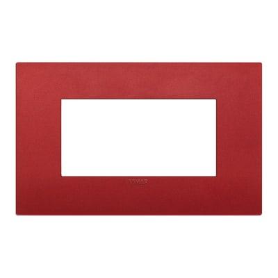 Placca VIMAR Arké 4 moduli rosso matt