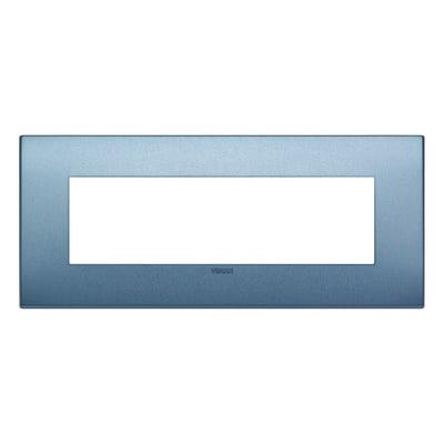 Placca VIMAR Arké 7 moduli blu matt