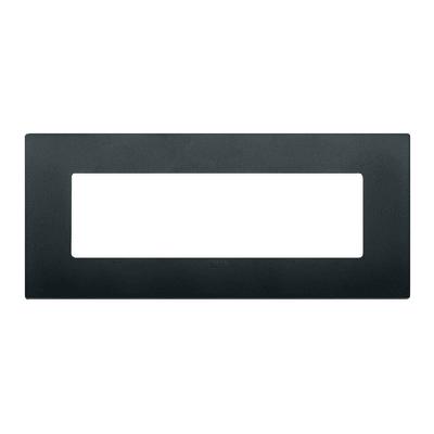 Placca VIMAR Arké 7 moduli nero