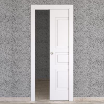 Porta scorrevole a scomparsa Alioth bianco L 80 x H 210 cm reversibile