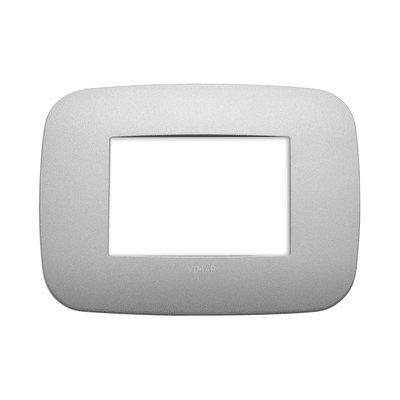 Placca VIMAR Arké 3 moduli argento matt