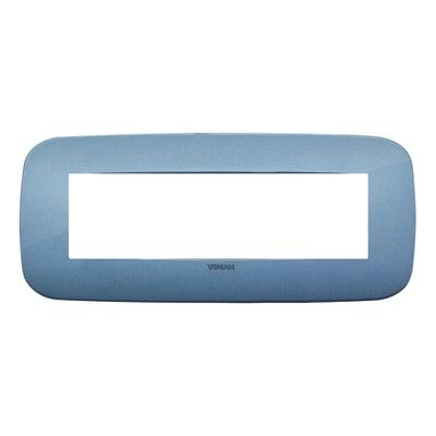 Placca VIMAR Arké 7 moduli blu