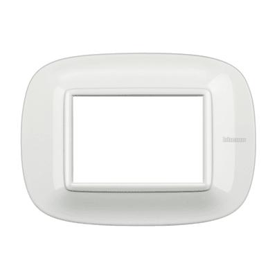 Placca BTICINO Axolute 3 moduli bianco