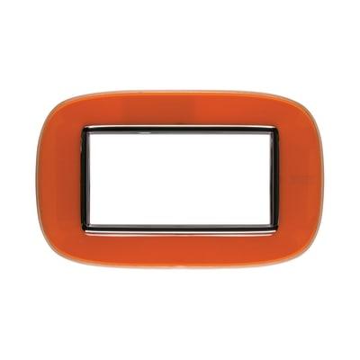 Placca BTICINO Axolute 4 moduli arancio liquid
