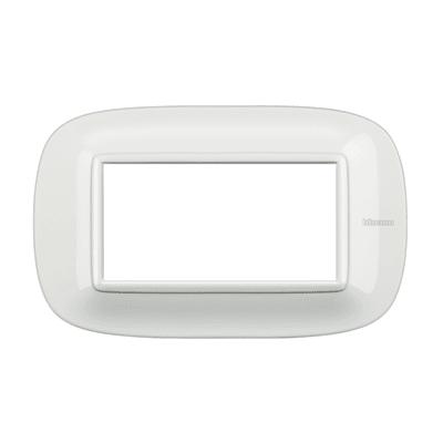 Placca BTICINO Axolute 4 moduli bianco