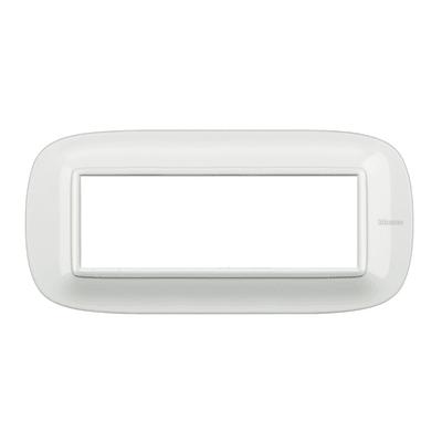Placca BTICINO Axolute 6 moduli bianco