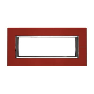 Placca BTICINO Axolute 6 moduli rosso china