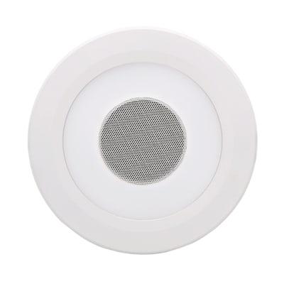 Faretto fisso da incasso tondo Music in alluminio, bianco, diam. 14 cm 14x14cm LED integrato 850LM IP44 INSPIRE