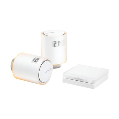 Kit termostato NETATMO NVP-IT con 2 testine e relé bianco
