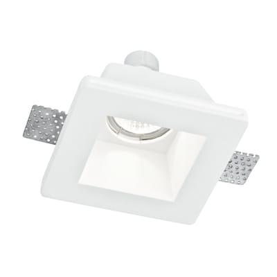 Faretto Fisso Da Incasso Quadrato Ghost Q1 In Gesso Bianco