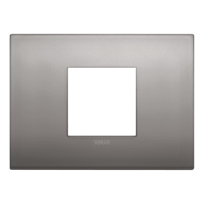Placca VIMAR Arké Classic 2 moduli nichel nero