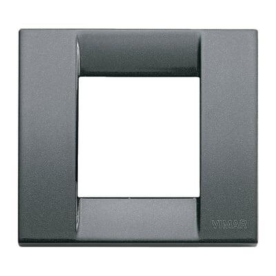 Placca VIMAR Arké Classic 2 moduli antracite metallizzata
