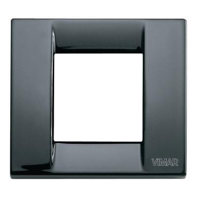 Placca VIMAR Arké Classic 2 moduli nero
