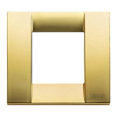 Placca VIMAR Arké Classic 2 moduli oro opaco