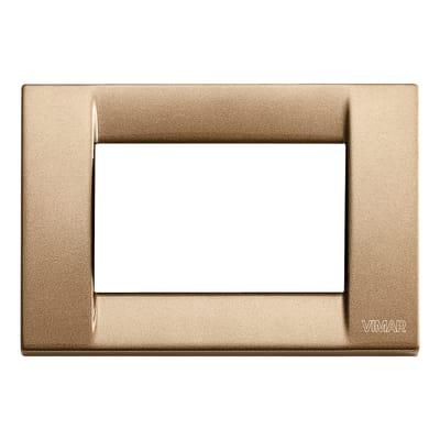 Placca VIMAR Idea 3 moduli bronzo metallizzato