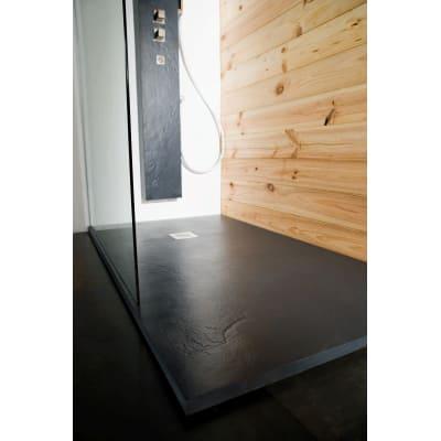 Piatto doccia ultrasottile resina Pizarra 80 x 110 cm antracite