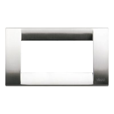 Placca VIMAR Idea 4 moduli nichel aspazzolato