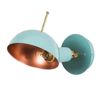 Applique app-boule turchese, in metallo, 26 cm, E14 60W