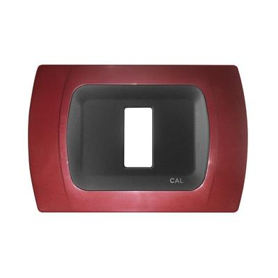 Placca CAL Click-Laser 1 modulo amaranto