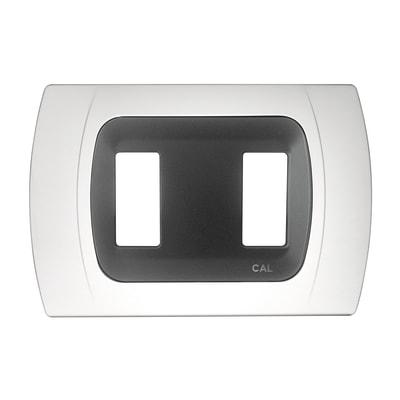 Placca CAL Click-Laser 2 moduli bianco