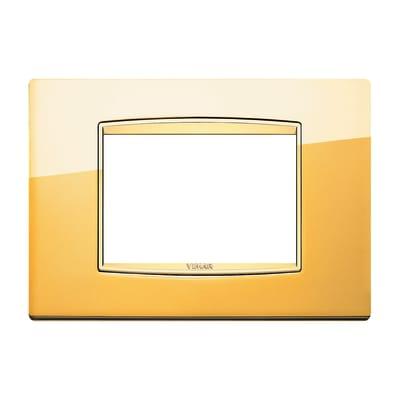 Placca VIMAR Eikon 3 moduli oro lucido