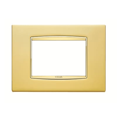 Placca VIMAR Eikon 3 moduli oro satinato