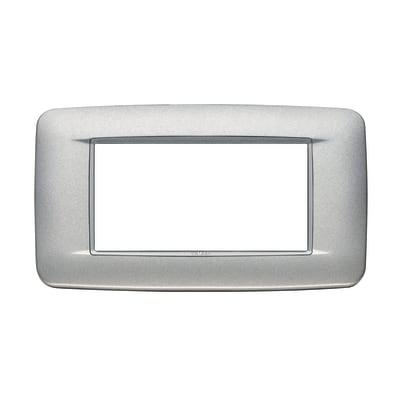 Placca VIMAR Eikon 4 moduli argento matt