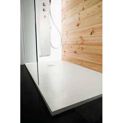 Piatto doccia ultrasottile resina Pizarra 90 x 110 cm bianco ...
