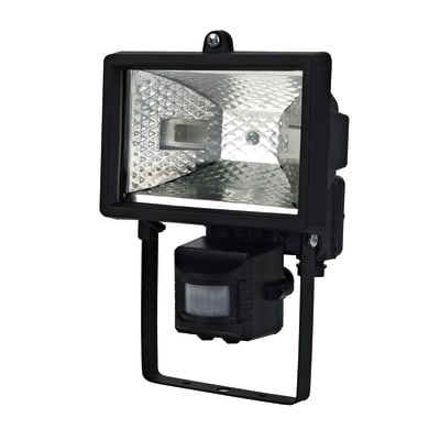 Proiettore con sensore di movimento Brenta in ottone nero R7S MAX150W IP44 INSPIRE