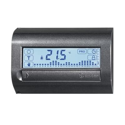 Cronotermostato FINDER 1C7190032007MMM nero