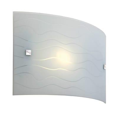 Applique Nina bianco, in vetro, 32x20 cm, E27 MAX60W IP20